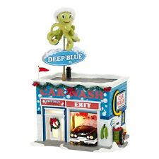 "Dept. 56 Snow Village ""DEEP BLUE CAR WASH"" ~ New  2013 ~ MIB ~ ANIMATED!!"