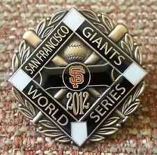 BLACK STRIPE San Francisco GIANTS 2012 WORLD SERIES CHAMPIONS LAPEL PIN