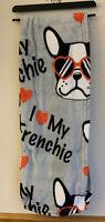 French Bulldog I Love My Frenchie Throw Blanket