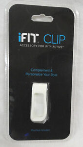 iFIT CLIP WHITE COLOR, FITS iFIT ACTIVE FITNESS TRACKER POD, NEW FAST FREE SHIP