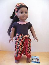 American Girl ADDY AFRICAN DANCE OUTFIT Revised Version New In Box