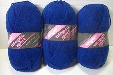 Unger Utopia Sport yarn acrylic #2125 royal 50 gr/180 yd skn lot of 3