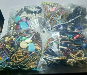 1KG Job Lot costume jewellery mixed bundle upcycle resell resale