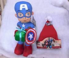 "Captain America Plush 21"" & Christmas Hat~ Retails $44.98~NWT's"