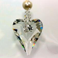 m/w Swarovski Crystal - Simply Elegant Big 37mm Wild Heart & Pearl Sun Catcher