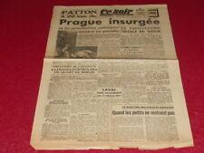 """[PRESSE WW2 39-45] """"Ce-Soir"""" # 1194 / 8 MAI 1945 CAPITULATION Allemagne Aragon"""