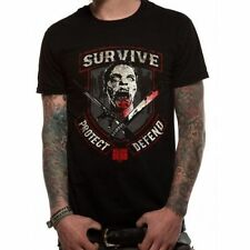 Cotton Solid Basic Tees Walking Dead T-Shirts for Men