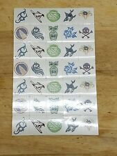 Sheet of 34 Kids Temporary Tattoos Surf's Up Great for Party