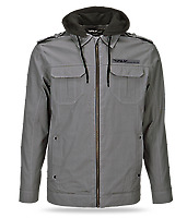 Brand new fly waxed jacket with hood grey sz 2xl 354-61362xl