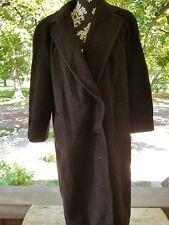 Vtg Regency Bergdorf Goodman Women's Chocolate Brown Long Coat Size Medium? Usa