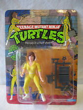 vintage 1988 TMNT April ONeil action figure MOC 10 back card NINJA TURTLES toy !