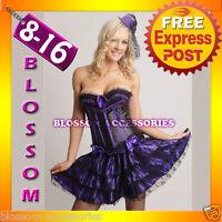 7206 Burlesque Gothic Lollita Corset & Skirt 8 10 12 14