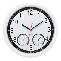 Pierre de Quartz Horloge Murale Silencieuse ThermomèTre PréCis Humidité Pat O1B9