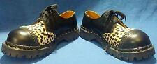 Gripfast Black Leather Leopard Oxfords Women's Size 6 Excellent Condition