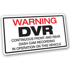 Warning DVR Dash Cam Recording Vehicle Sticker - 14cm x 7.5cm Red Black CCTV