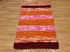 Rag Rug Recycled Striped Multi Colour Handwoven Mix Texture 110x180cm 50 off