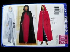 Butterick Pattern #5889 8 10 12 Hooded Cape UNCUT Flared Lined or Evening