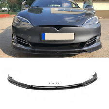 Front Lip Bumper Spoiler Factory Fit For Tesla Model S  16-17 Carbon Fiber