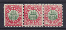 NORWAY LOCAL POST ARENDAL 1885, # 10, STRIP OF 3, MNH ** VF