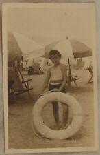 CESENATICO SPIAGGIA 1948 FOTOGRAFIA ORIGINALE SALVAGENTE OMBRELLONI ROMAGNA
