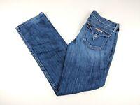 Hudson Women's Jeans Size 27 Straight Leg Stretch W402DHA Blue Flap Pocket Denim