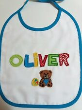 Handmade Bib Personalized with Name Oliver