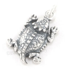 HORNED LIZARD HORNY TOAD FROG Charm Texas REPTILE Pendant 925 Sterling Silver