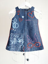 """i love next"" Size 6-9 months - Great Girls Denim Dress. Perfect! Bargain!"