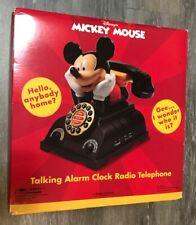 Disney Mickey Mouse Talking Alarm Clock Radio Telephone Phone NEW NIB