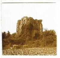 Francia Torre IN Rovine Foto Stereo PL46Th5n Placca Da Lente Vintage