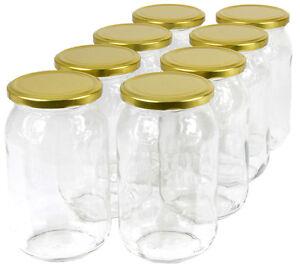 900 ml Einweckgläser mit Deckel Einmachgläser Vorratsgläser Einmachglas Weck