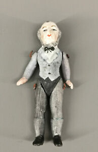 8710022 Ganzkörper-Biskuit Porzellan-Puppenstubenpuppe Biedermeier-Mann H9cm
