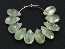 Natural Green Kyanite Faceted Pear Briolette Semi Precious Gemstone Beads 013