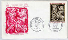 FRANCE FDC - 1569 2 TABLEAU LA DANSE DE BOURDELLE 1968