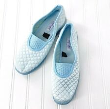 Soft Fit Slippers Quilted House Shoes Blue size 7.5