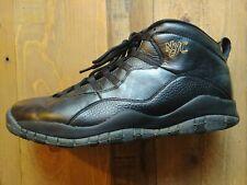 Air Jordan Retro 10 NYC Mens Size 12 Black Nike Sneakers EUC
