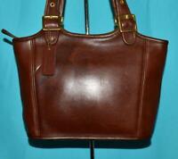 Vintage COACH LEGACY Brown Smooth Leather Shoulder Shopper Tote Purse Bag 9086