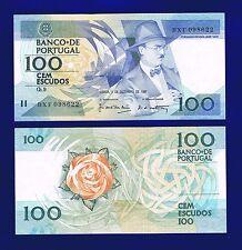 Portugal  Banknotes  100 Escudos  03-12-1987  P179D UNC -2- Fernando Pessoa