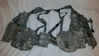 LIGHTWEIGHT MOLLE II ACU FLC ADJUSTABLE FIGHTING LOAD CARRIER W/ POUCHES JJ 1019
