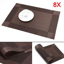 8er Tischset Platzdeckchen Platzset Platzmatte Tischmatte Decke abwaschbar