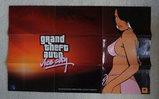 Rockstar Games Grand Theft Auto GTA Vice City Map Promo Poster Rare
