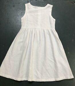 Girls dress white NXT age 5 6 7 8 9 10 11 12 13 14 y summer sleeveless