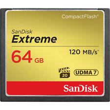 SanDisk 64GB 64G CF Card CompactFlash Extreme 120MB/S 800X 4K UDMA7 SDCFXSB-064G