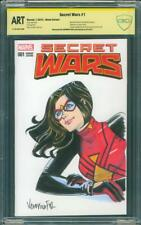 Spider Woman 1 CBCS SS ART Veronica Fish Original sketch Secret Wars up CGC 9.8