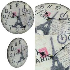 HIPPIH Silent Round Wall Clocks (12 Inches) Living 12 INCH, 12 Inch -004-1