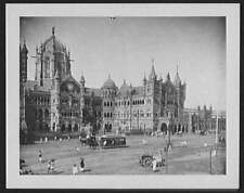 Victoria Station,Bombay,India,Railroad Station,RR,1895,William Henry Jackson