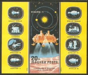 HUNGARY Sc# C373 var MNH FVF SS Imperf Apollo Space Moon Viking 1 Mission