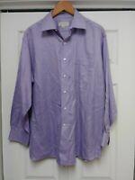 Tommy Bahama Mens Button Down Shirt Size Large 16 1/2 Purple LS 32-33 soft