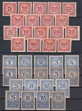 Austria 1920/21 ☀ PORTO Postage due Mi.75/101 x,y ☀ 38v MNH & MH - scan