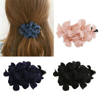Fashion Handmade Womens Girl Crystal Flower Barrette Hair Clip Hair Pin Claw ss